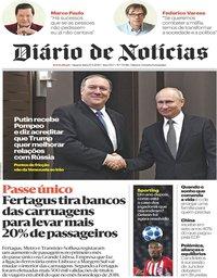 capa Diário de Notícias de 15 maio 2019
