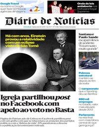 capa Diário de Notícias de 16 maio 2019