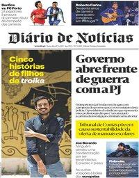 capa Diário de Notícias de 17 maio 2019