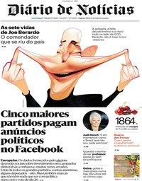 capa Diário de Notícias de 18 maio 2019