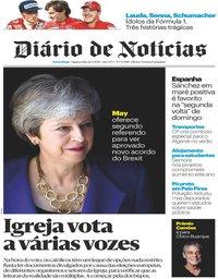 capa Diário de Notícias de 22 maio 2019