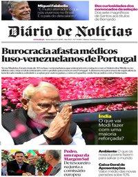 capa Diário de Notícias de 24 maio 2019