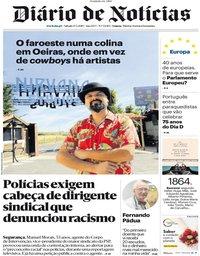 capa Diário de Notícias de 25 maio 2019