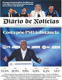 capa Diário de Notícias de 27 maio 2019