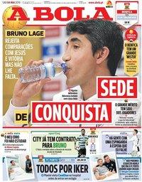 capa Jornal A Bola de 4 maio 2019