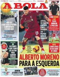 capa Jornal A Bola de 7 maio 2019