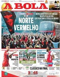 capa Jornal A Bola de 12 maio 2019
