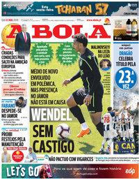 capa Jornal A Bola de 23 maio 2019