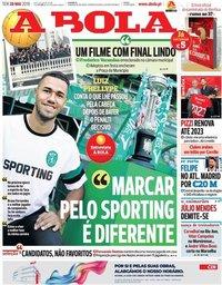 capa Jornal A Bola de 28 maio 2019