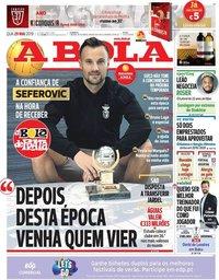 capa Jornal A Bola de 29 maio 2019