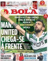 capa Jornal A Bola de 31 maio 2019