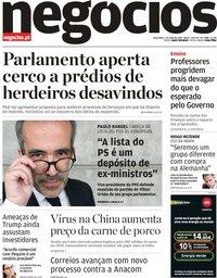 capa Jornal de Negócios de 7 maio 2019
