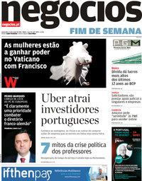 capa Jornal de Negócios de 10 maio 2019