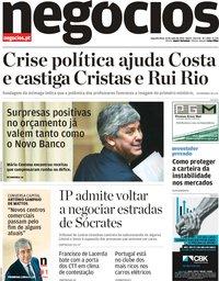 capa Jornal de Negócios de 13 maio 2019