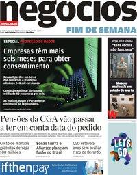 capa Jornal de Negócios de 17 maio 2019