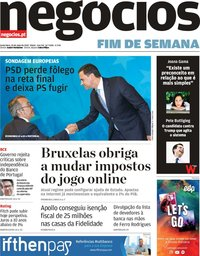 capa Jornal de Negócios de 24 maio 2019