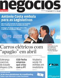 capa Jornal de Negócios de 27 maio 2019