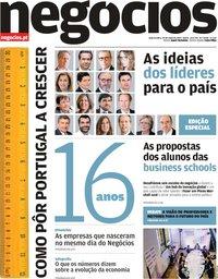 capa Jornal de Negócios de 29 maio 2019