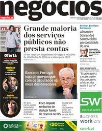 capa Jornal de Negócios de 30 maio 2019