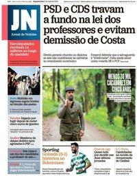 capa Jornal de Notícias de 6 maio 2019