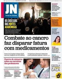 capa Jornal de Notícias de 9 maio 2019