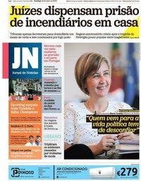 capa Jornal de Notícias de 12 maio 2019