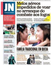 capa Jornal de Notícias de 15 maio 2019