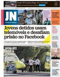 capa Jornal de Notícias de 16 maio 2019