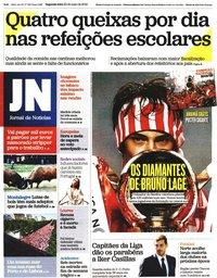 capa Jornal de Notícias de 20 maio 2019