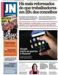 capa Jornal de Notícias de 21 maio 2019