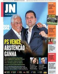 capa Jornal de Notícias de 27 maio 2019