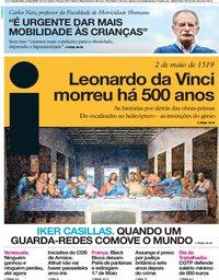 capa Jornal i de 2 maio 2019
