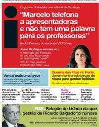 capa Jornal i de 9 maio 2019