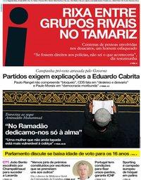 capa Jornal i de 13 maio 2019