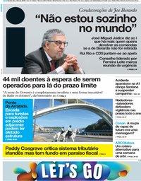 capa Jornal i de 16 maio 2019