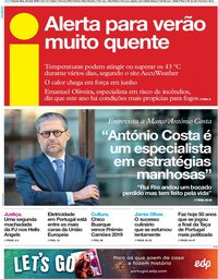 capa Jornal i de 22 maio 2019