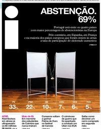 capa Jornal i de 27 maio 2019