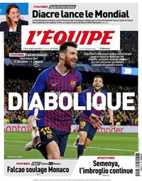 capa Jornal L'Équipe de 2 maio 2019