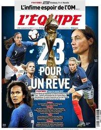 capa Jornal L'Équipe de 3 maio 2019