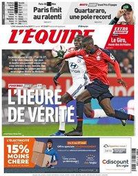 capa Jornal L'Équipe de 5 maio 2019