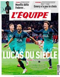 capa Jornal L'Équipe de 9 maio 2019