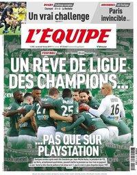 capa Jornal L'Équipe de 10 maio 2019