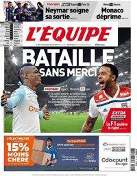 capa Jornal L'Équipe de 12 maio 2019