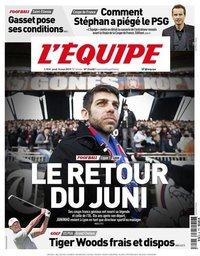 capa Jornal L'Équipe de 16 maio 2019
