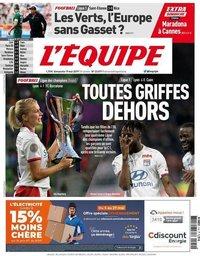 capa Jornal L'Équipe de 19 maio 2019