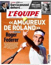 capa Jornal L'Équipe de 23 maio 2019