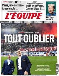 capa Jornal L'Équipe de 25 maio 2019