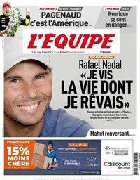 capa Jornal L'Équipe de 27 maio 2019
