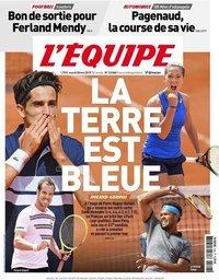 capa Jornal L'Équipe de 28 maio 2019