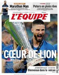 capa Jornal L'Équipe de 30 maio 2019